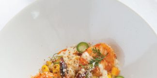 2016 Chefs to Watch - Chef Gabriel Balderas, Chile-Marinated Shrimp with Corn Esquites