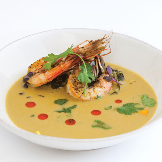 2016 Chefs to Watch - Chef Nathan Richard, Kingfish, Cushaw and Shrimp Curry Bisque with Mustard Greens
