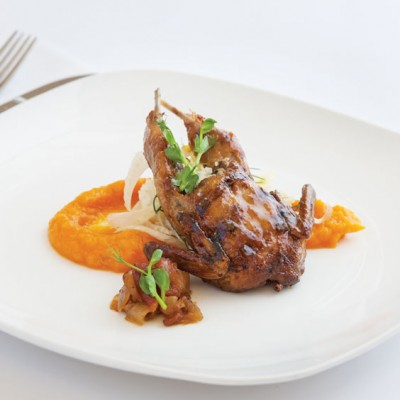 Chefs to Watch - Ashley Roussel, Fig Preserve Glazed Quail
