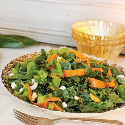 Hearty Winter Greens Salad
