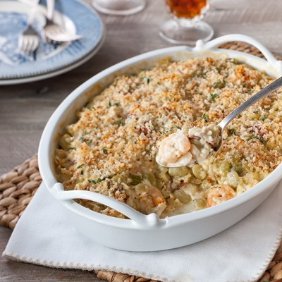 Lima Bean and Shrimp Casserole