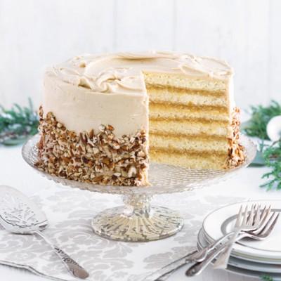 Caramel Pecan Doberge Cake