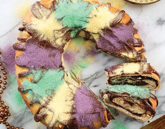 Chocolate King Cake