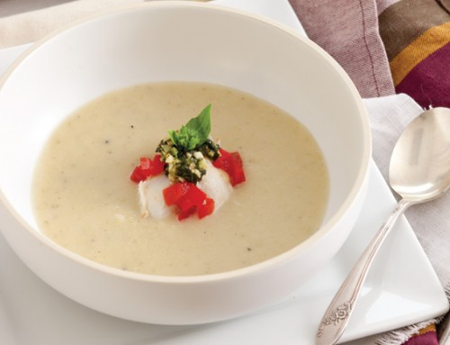 Fennel Soup with Crab and Pistou