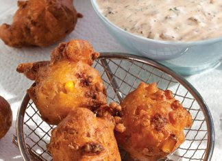 Crawfish and Corn Beignets