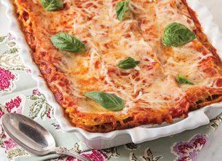 creole cream cheese and sausage lasagna
