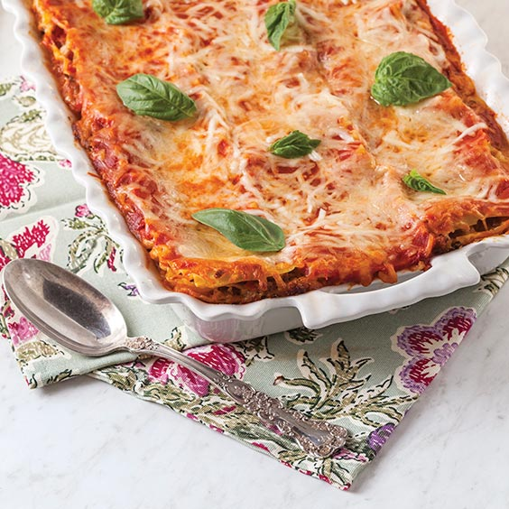 creole cream cheese and sausage lasagna