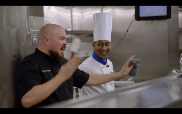Isaac Toups and Chef RAJ