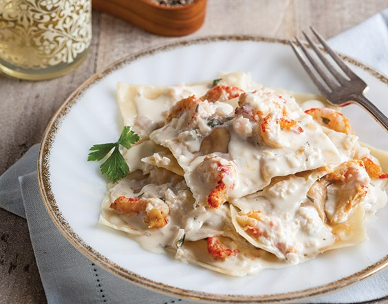 crawfish ravioli