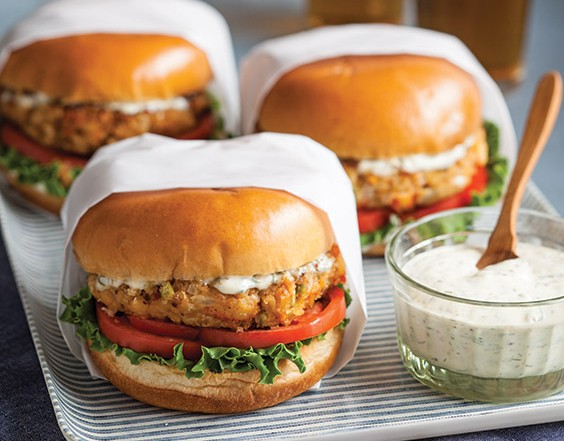 crawfish burgers