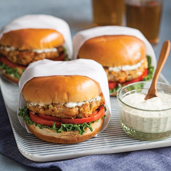 crawfish burgers