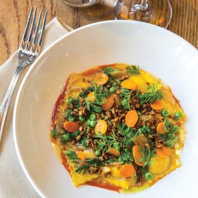 carrot ravioli