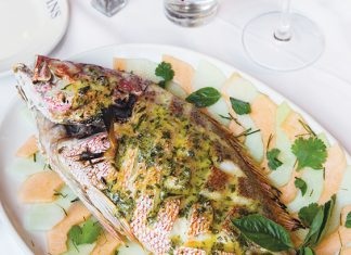 Whole Grilled Fish with Pineapple-Basil Glaze