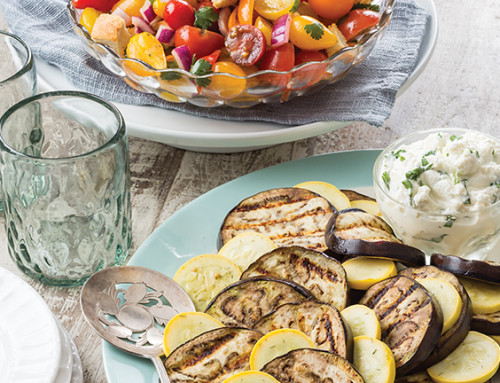 Grilled Eggplant with Herbed Ricotta