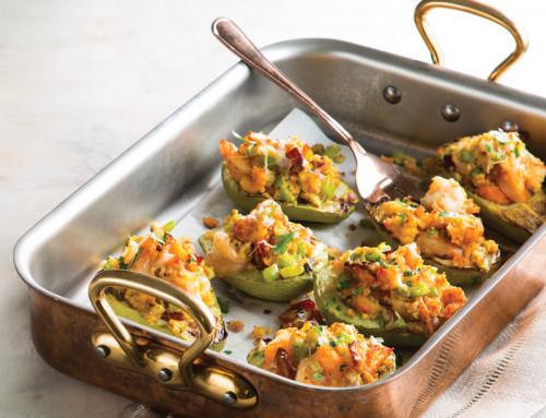 Seafood-Stuffed Mirlitons