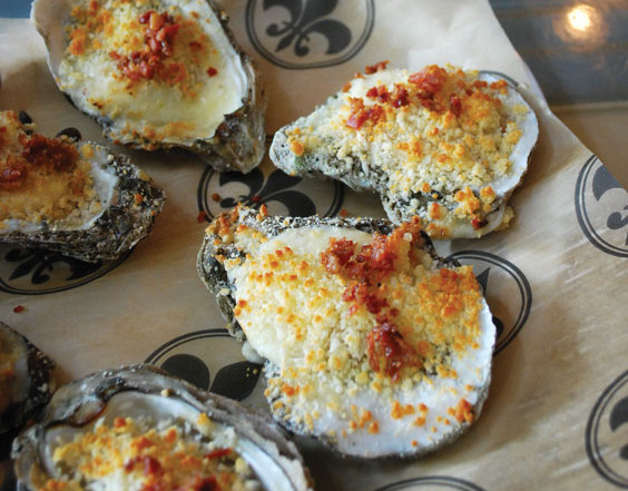 Brie and Bacon Oysters
