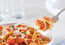 Andouille Sausage and Crawfish Linguine