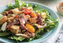 Muffuletta Panzanella Salad