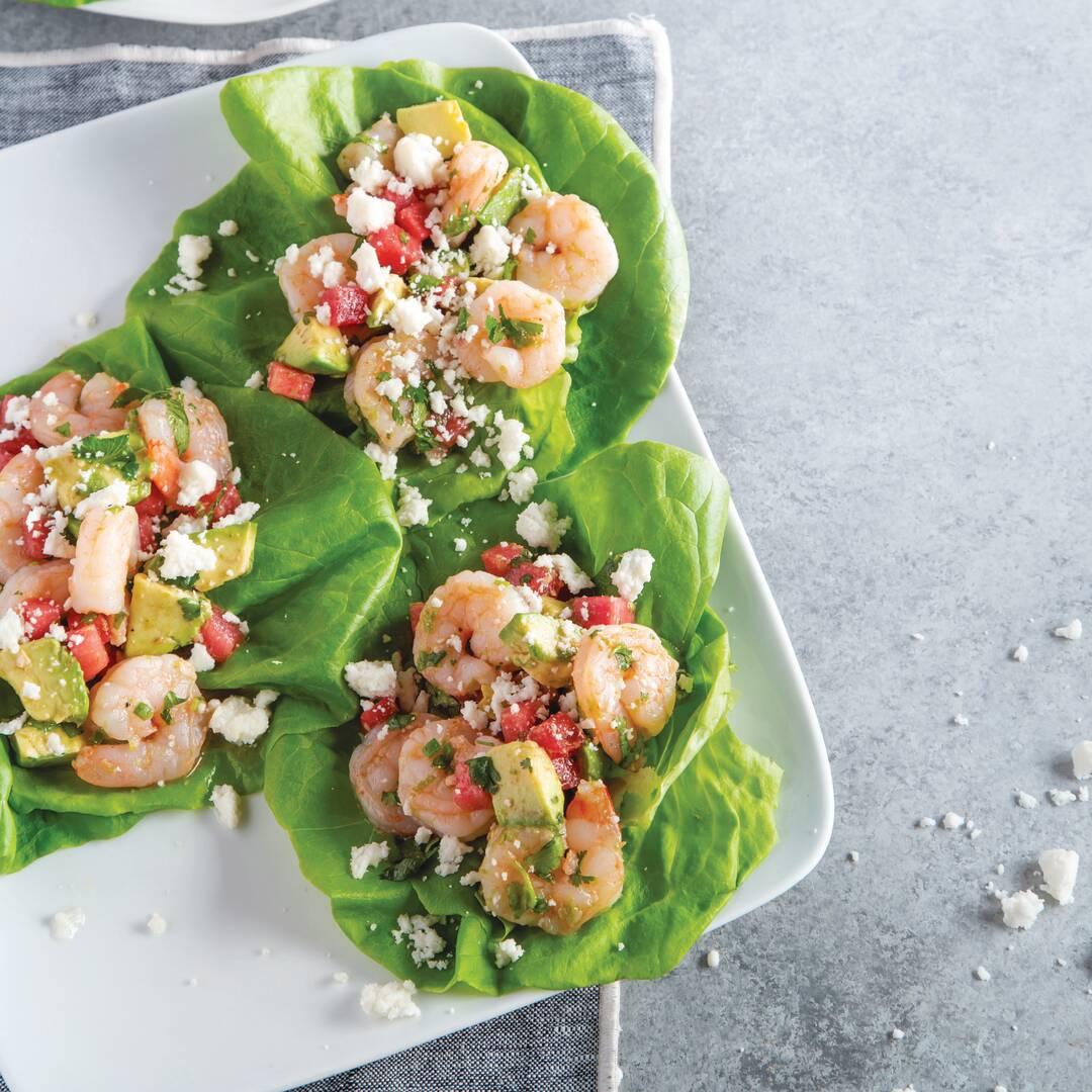 Watermelon Shrimp Avocado Salad