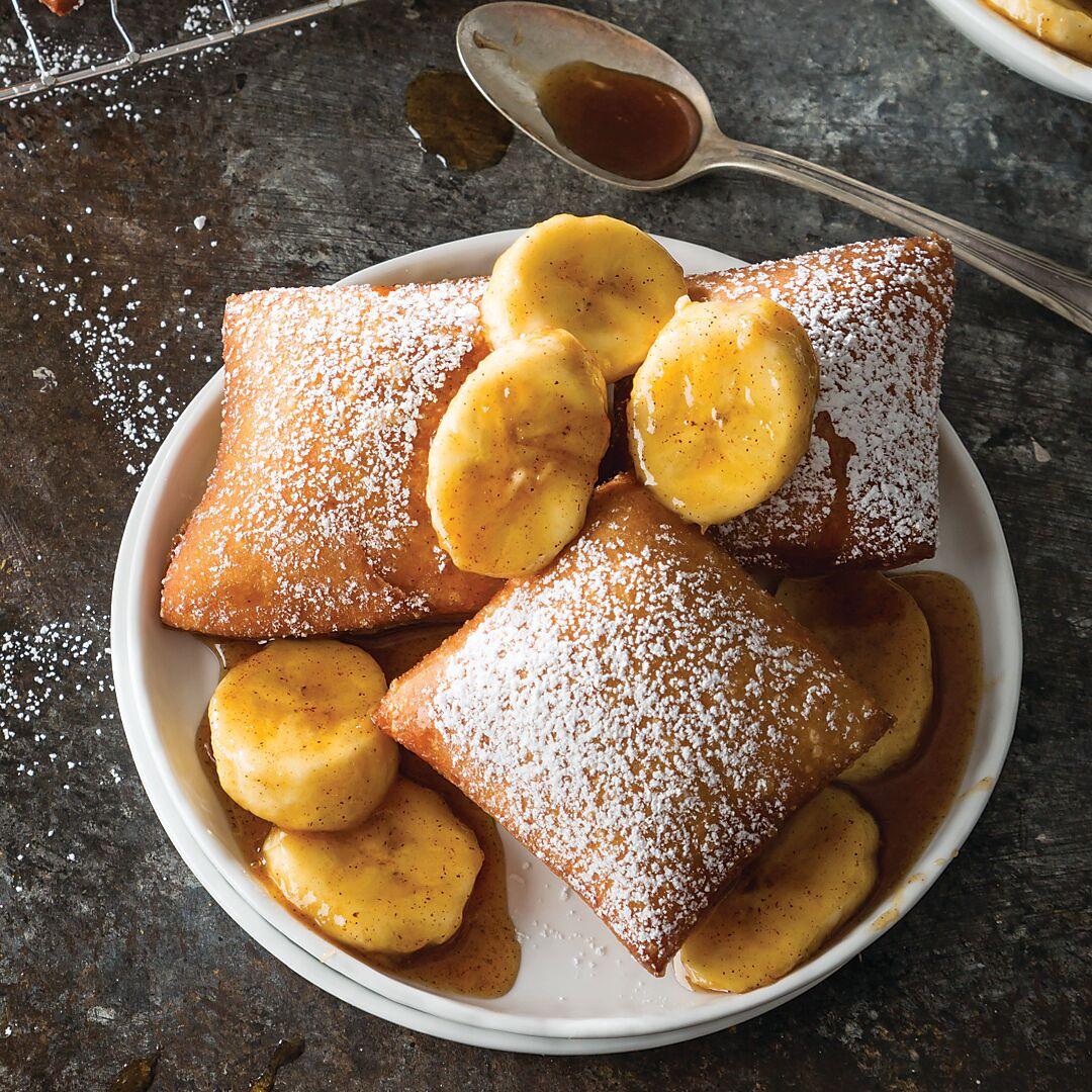 Bananas Foster Beignets Louisiana Cookin